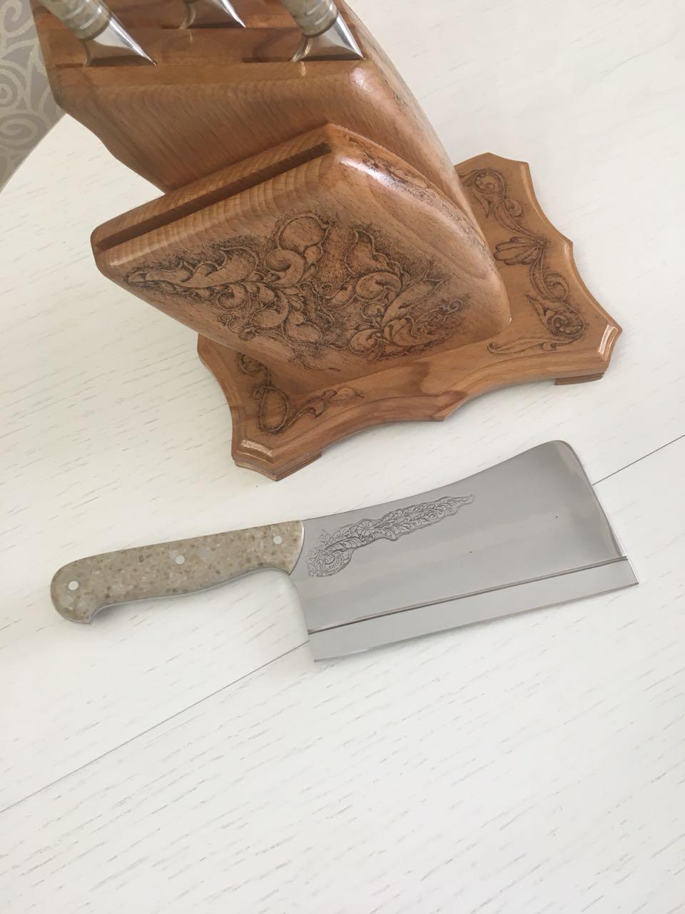 Набор кухонных ножей на заказ