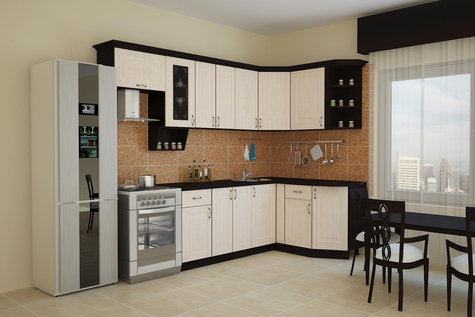 Кухня БЕЛАРУСЬ-1 УГЛОВАЯ, правая, левая
