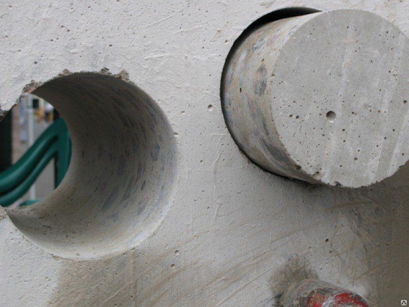 Испытание образцов бетона вырезанных из конструкции (керны)