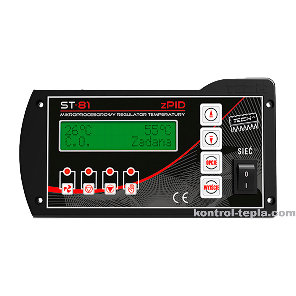 Контроллер для твердотопливного котла TECH ST-81 zPID