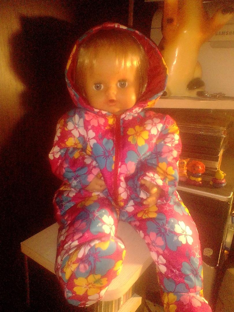 Комбинезон для куклы  ростом 50-53см