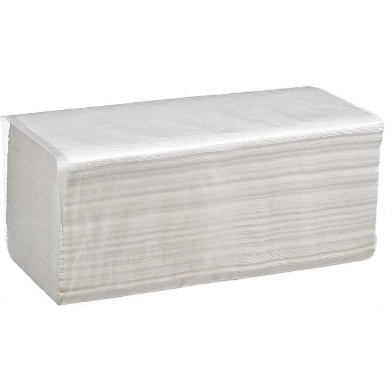 Полотенце бумажное листовое 23*21 1- сл. 250л V-сложение (Z) 20 V3-250