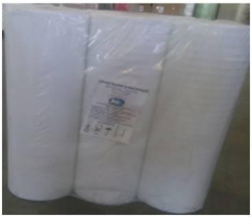 Простыни бумажные влагопрочные 2сл., 143 м, 50 см, б/перф, 1х3