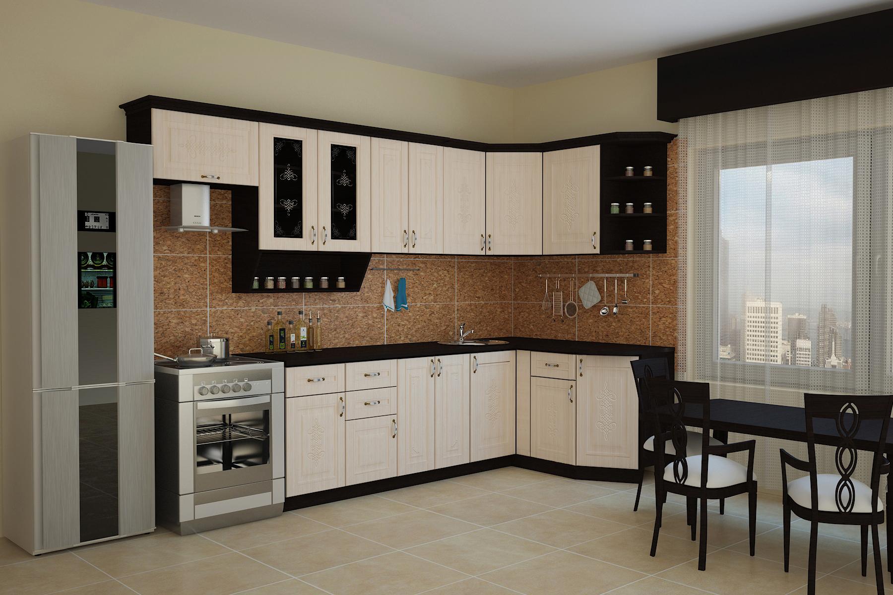 Кухня БЕЛАРУСЬ-2 УГЛОВАЯ, правая, левая