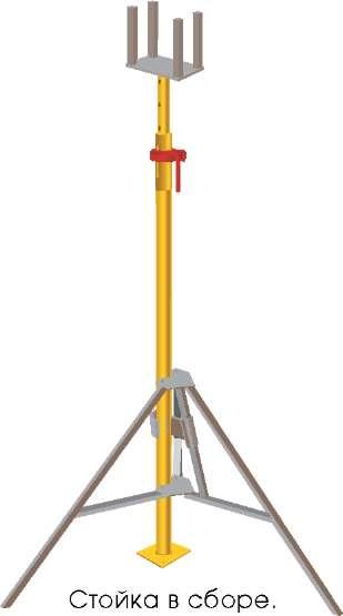 Стойка телескопическая для опалубки 3,1м