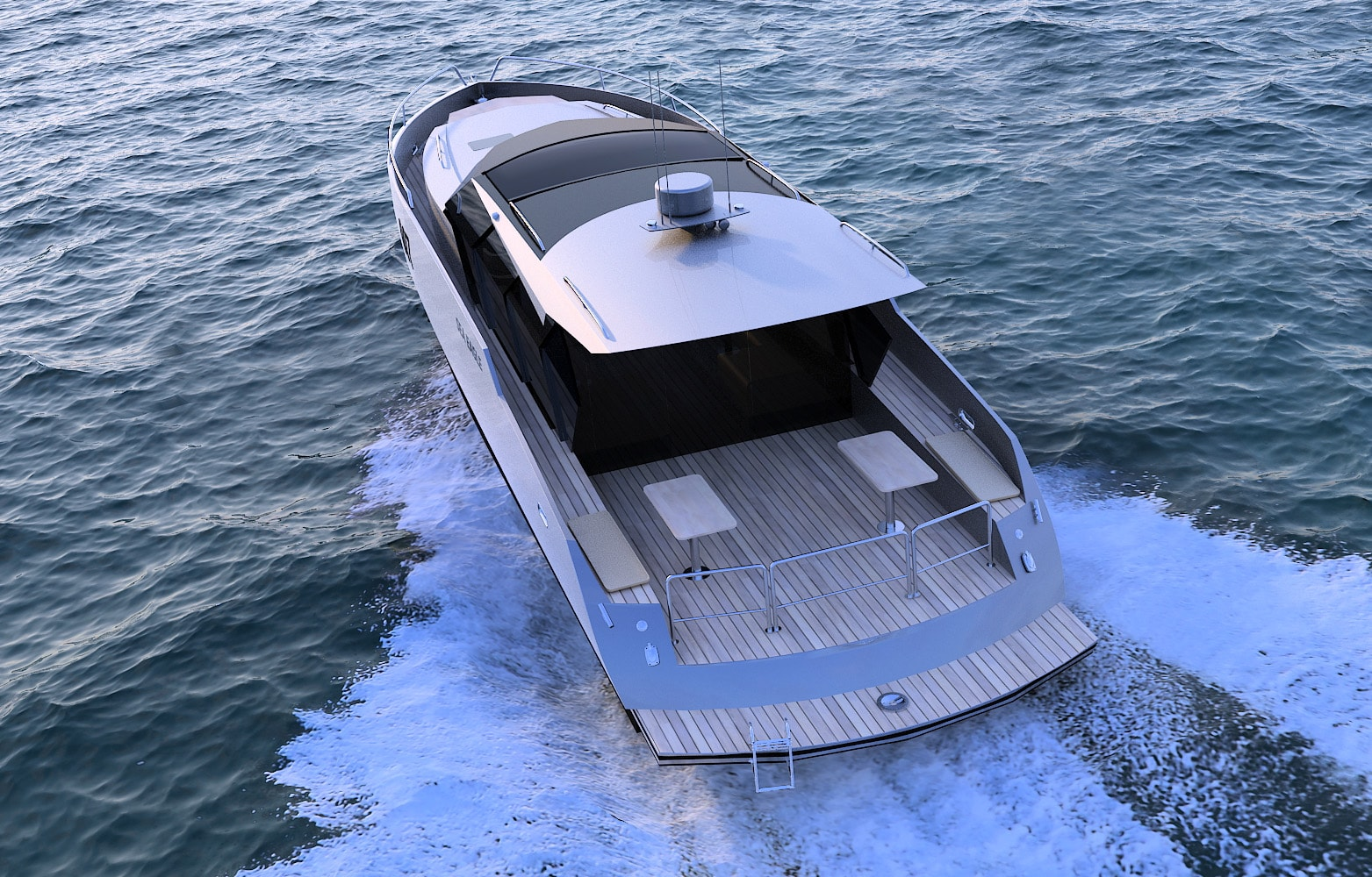 """Sea Eagle-50"" - алюминиевая моторная яхта"