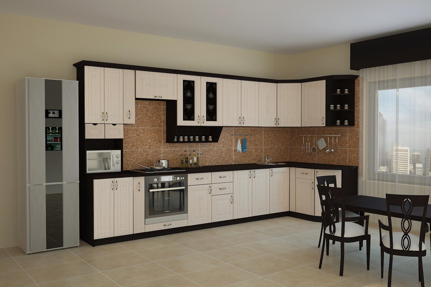 Кухня БЕЛАРУСЬ-5 УГЛОВАЯ, правая, левая