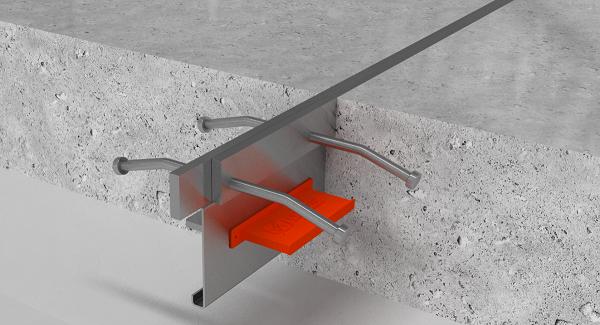 Несъёмная металлическая опалубка для бетонного пола (Деформационный шов)