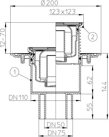 Трап DN 50/75/110, HL310N