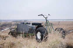 Лыжно колесный модуль для мотобуксировщика или мотособаки